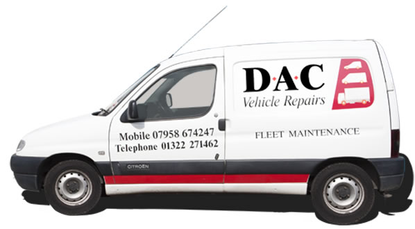 DAC Vehicle Repairs Fleet Maintenance Van